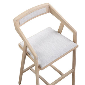 Padma Oak Bar Stool - Light Grey