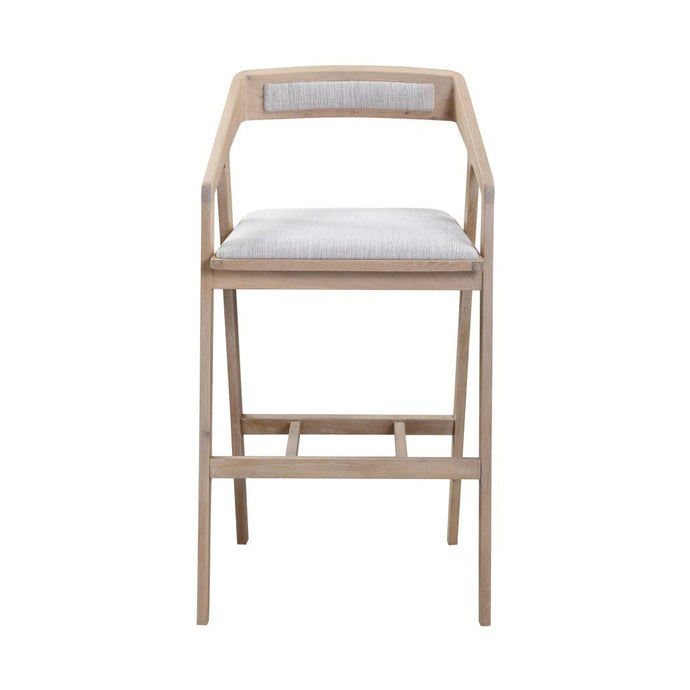 Padma Oak Bar Stool - Light Grey - Hausful - Modern Furniture, Lighting, Rugs and Accessories