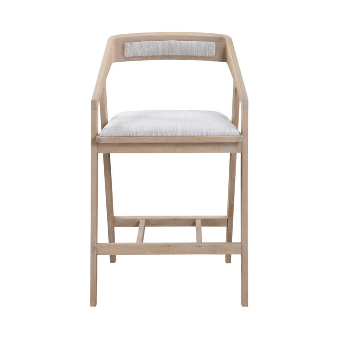 Padma Oak Counter Stool - Light Grey - Hausful - Modern Furniture, Lighting, Rugs and Accessories