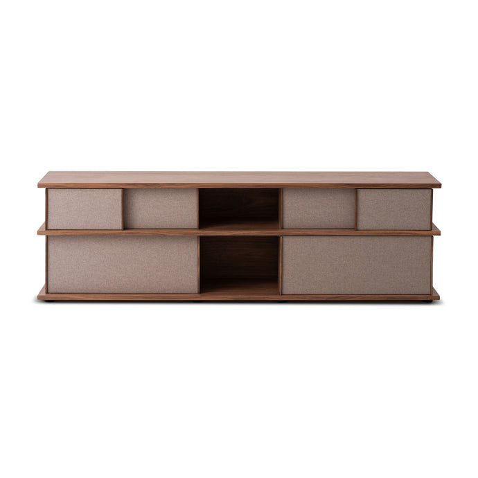"Plank 83"" Upholstered High Media Unit - Hausful - Modern Furniture, Lighting, Rugs and Accessories"