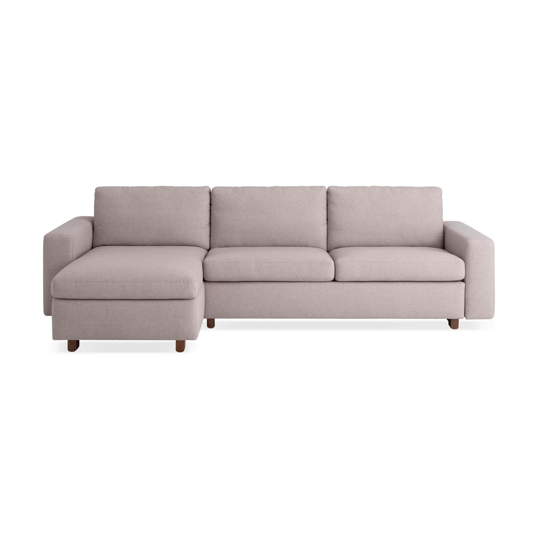 Reva 2-Piece Sectional Sleeper Sofa with Storage Chaise - Fabric - Hausful - Modern Furniture, Lighting, Rugs and Accessories