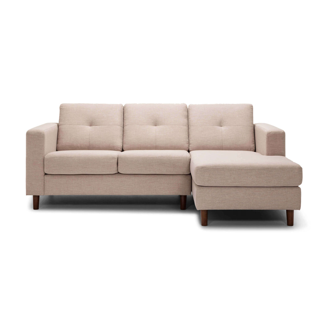 Solo 2-Piece Sectional Sofa with Chaise - Fabric - Hausful - Modern Furniture, Lighting, Rugs and Accessories