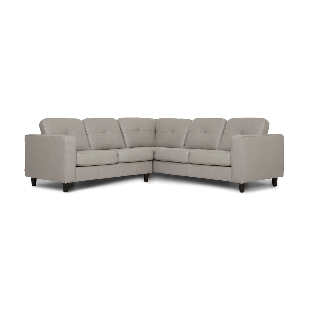 Solo 2-Piece Sectional Sofa - Leather - Hausful - Modern Furniture, Lighting, Rugs and Accessories