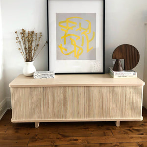 "Tambour Credenza - 62"" - Hausful - Modern Furniture, Lighting, Rugs and Accessories"
