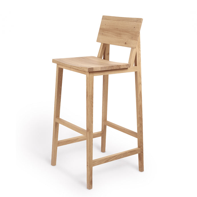 Oak N4 Bar Stool - Hausful - Modern Furniture, Lighting, Rugs and Accessories