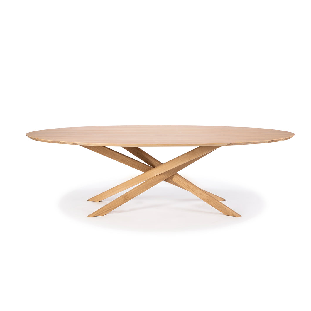 Oak Mikado Oval Dining Table - Hausful - Modern Furniture, Lighting, Rugs and Accessories