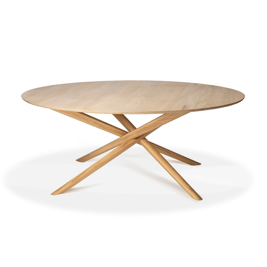 Oak Mikado Round Dining Table - Hausful - Modern Furniture, Lighting, Rugs and Accessories