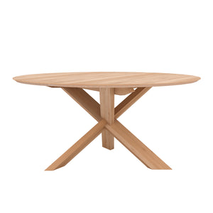 Oak Circle Dining Table - Hausful - Modern Furniture, Lighting, Rugs and Accessories