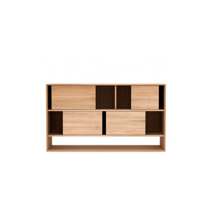 Oak Nordic Sideboard - Sliding Doors - Hausful - Modern Furniture, Lighting, Rugs and Accessories