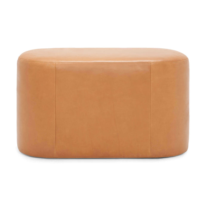 Oval Ottoman - Leather - Hausful - Modern Furniture, Lighting, Rugs and Accessories