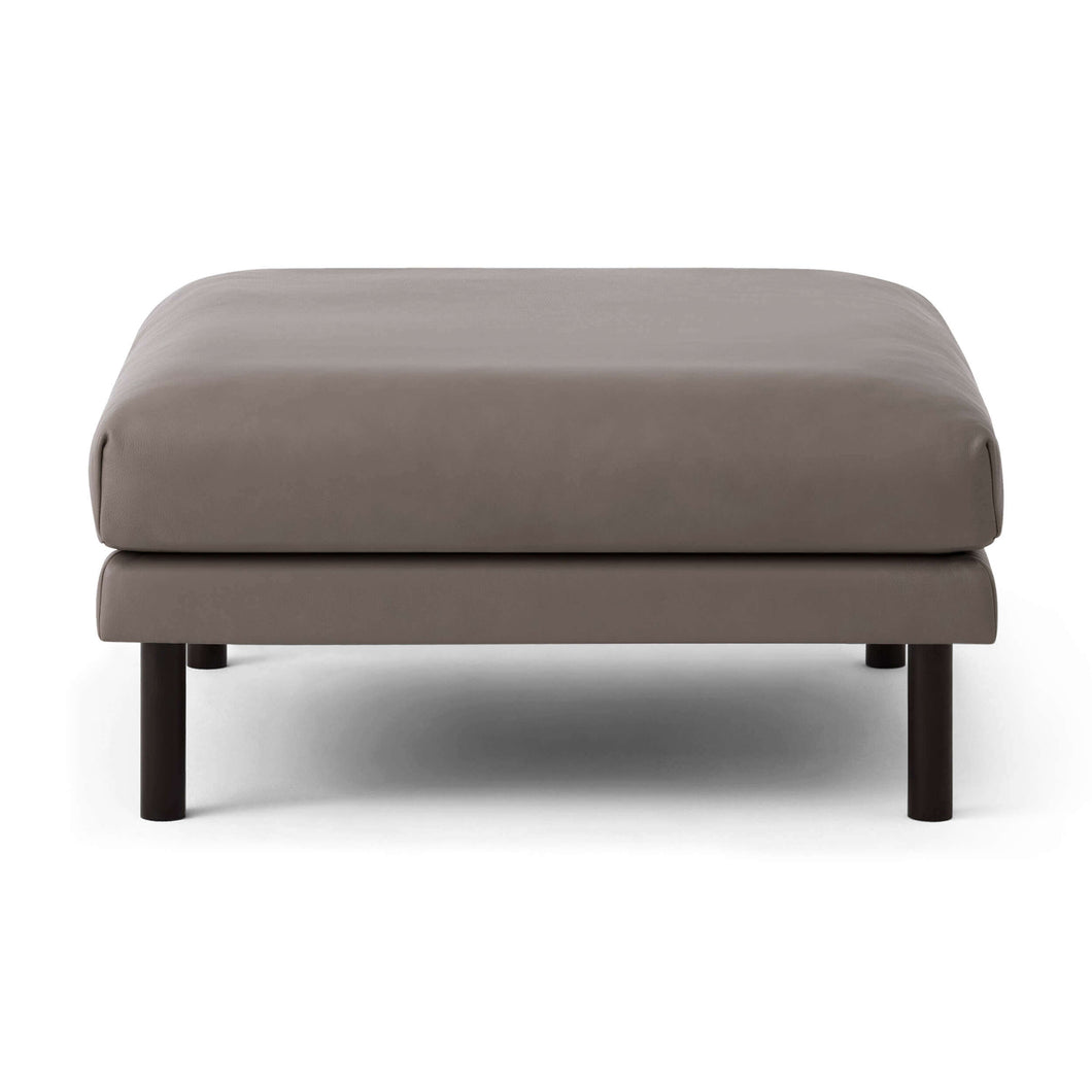 Replay Square Ottoman - Leather - Hausful - Modern Furniture, Lighting, Rugs and Accessories