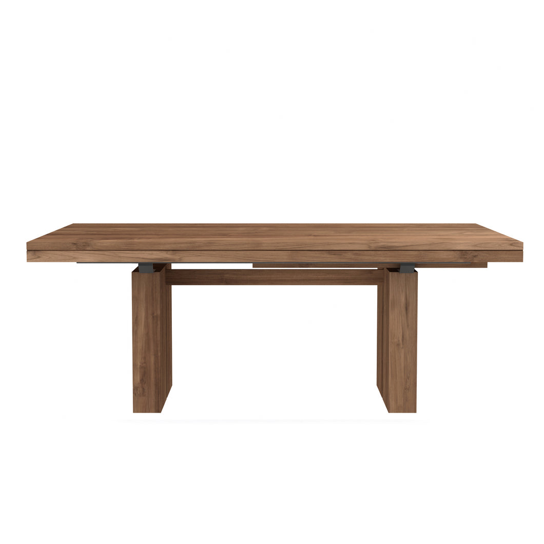 Teak Double Extendable Dining Table - Hausful - Modern Furniture, Lighting, Rugs and Accessories