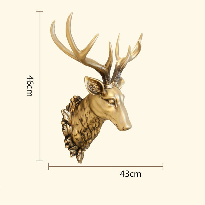3D Head Deer Sculpture Statue Home Wall Hanging Decoration