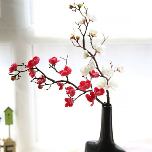 Plum Artificial Flower Plants Decoration