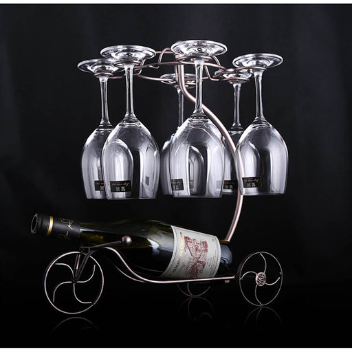 Hanging Upside Down Decorative Wine Rack