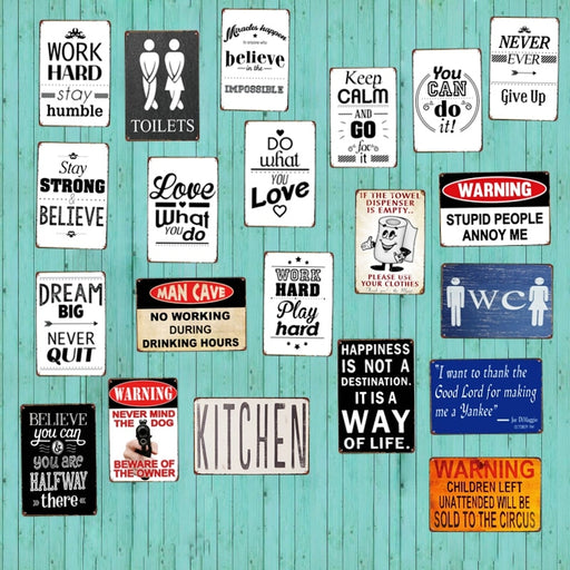 Kitchen Home & Apartment Collectibles Sign Metal Vintage Decor