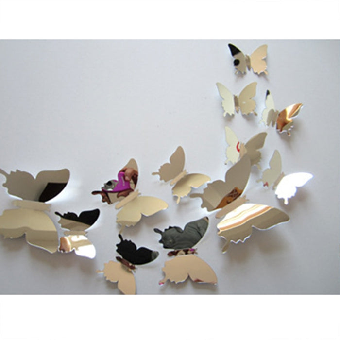 Home Decoration Silver Mirror High Quality Butterfly Design
