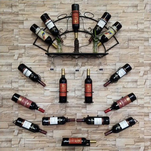 Wall Mounted Wine Bottle Rack Holder
