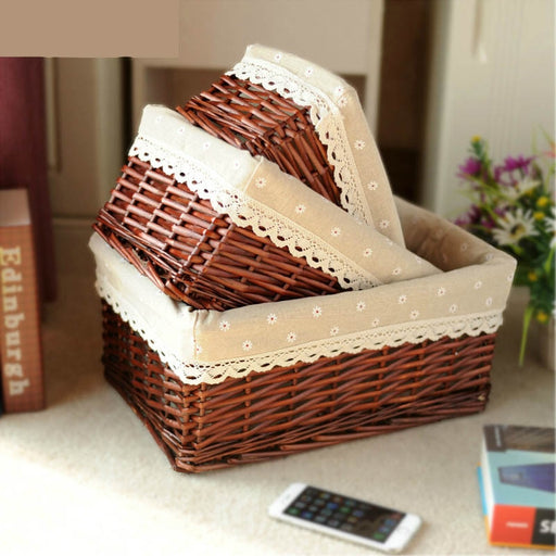 Weaving Storage Decorative Organizer Basket
