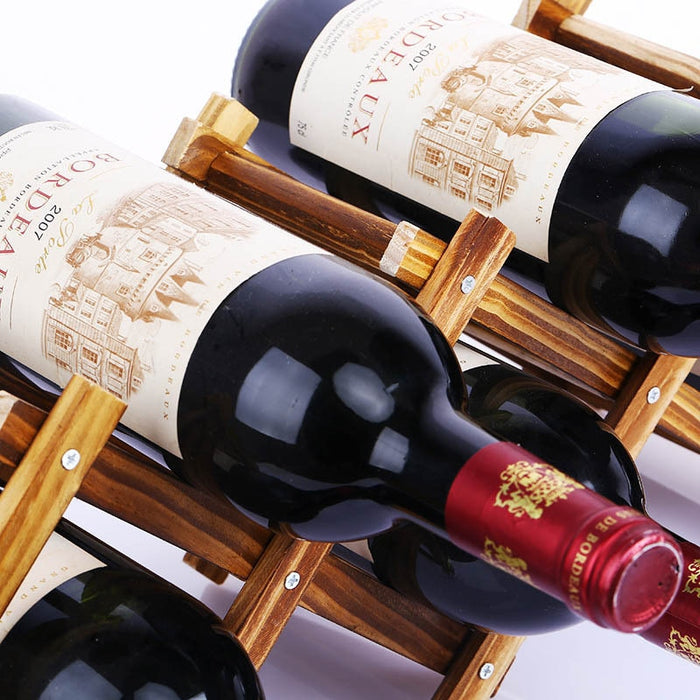 Collapsible Wooden Wine Bottle Holders Creative Practical