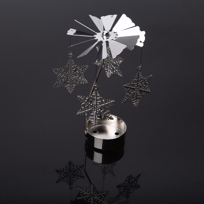 Romantic Rotary Spinning Metal Holder Candle Holder