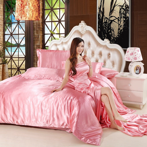 Satin Silk Luxury Duvet Cover Set