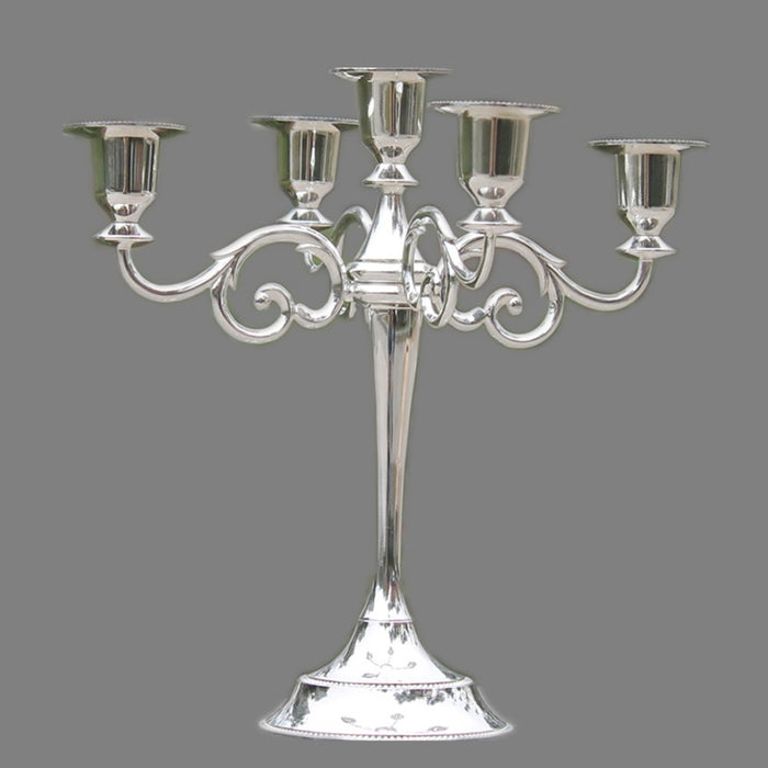 3 & 5 Arms Metal Pillar Candlestick Holder Decoration