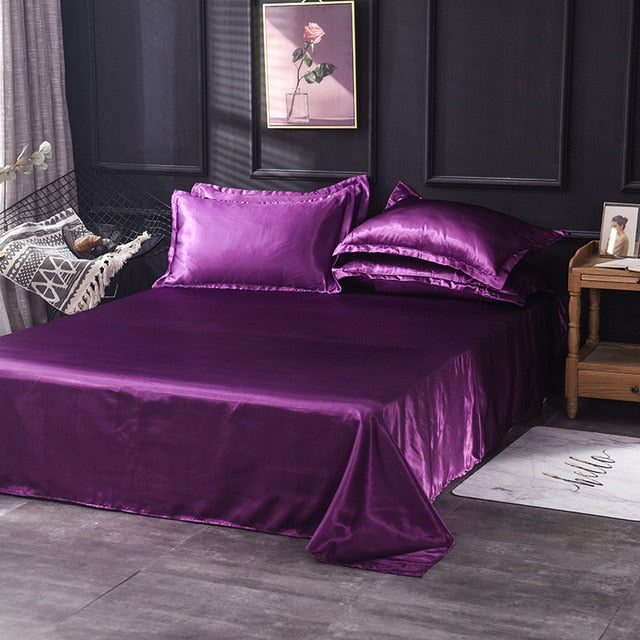 Luxury Satin Silk Flat Sheet