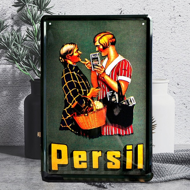Retro Metal Sign Poster Home Plate Wall Decor Art