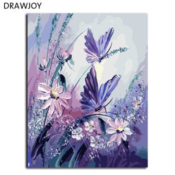 Butterfly & Natures Frameless Picture Painting Wall Art