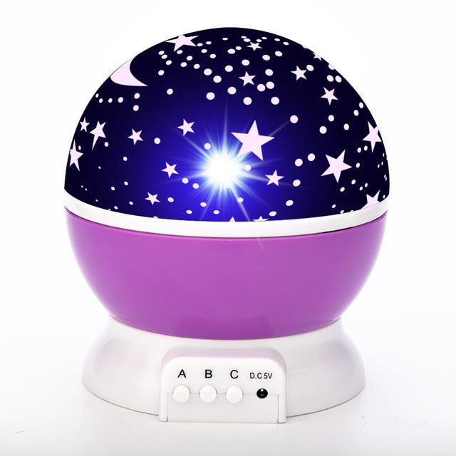 Rotating LED Projector Star Moon Night Light Sky