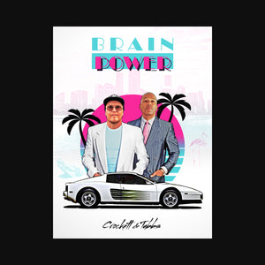 Crockett & Tubbs Art Print