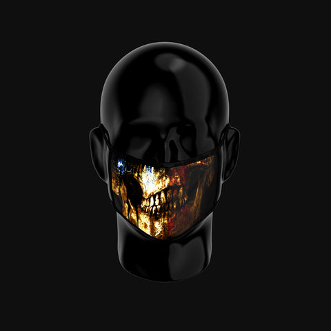 NOMTW Gold Skull Face Mask