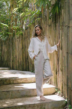Load image into Gallery viewer, High waisted wide-leg pants made from 100% Linen spun from Belgian flax plant in natural