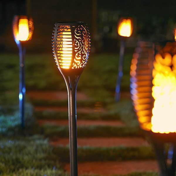Solar-Powered Flame Torch Lamp - $ 72.99 +