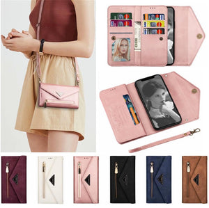 Card Holder Crossbody Phone Case Wallet For iphone - popmoca