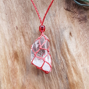 Necklaces-Crystal Pouch-Red