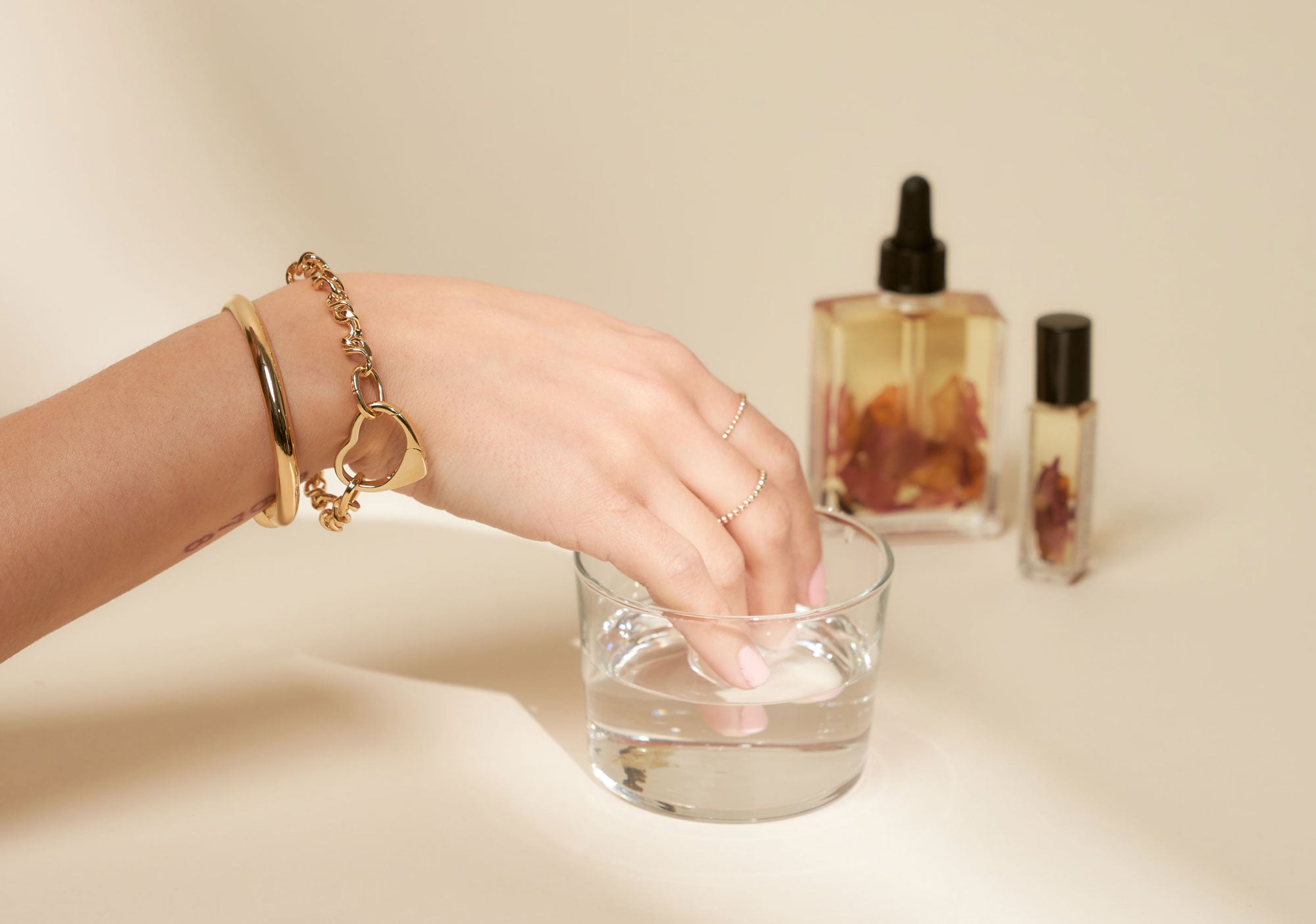 Stay In Touch Image of Hand with Jewelry