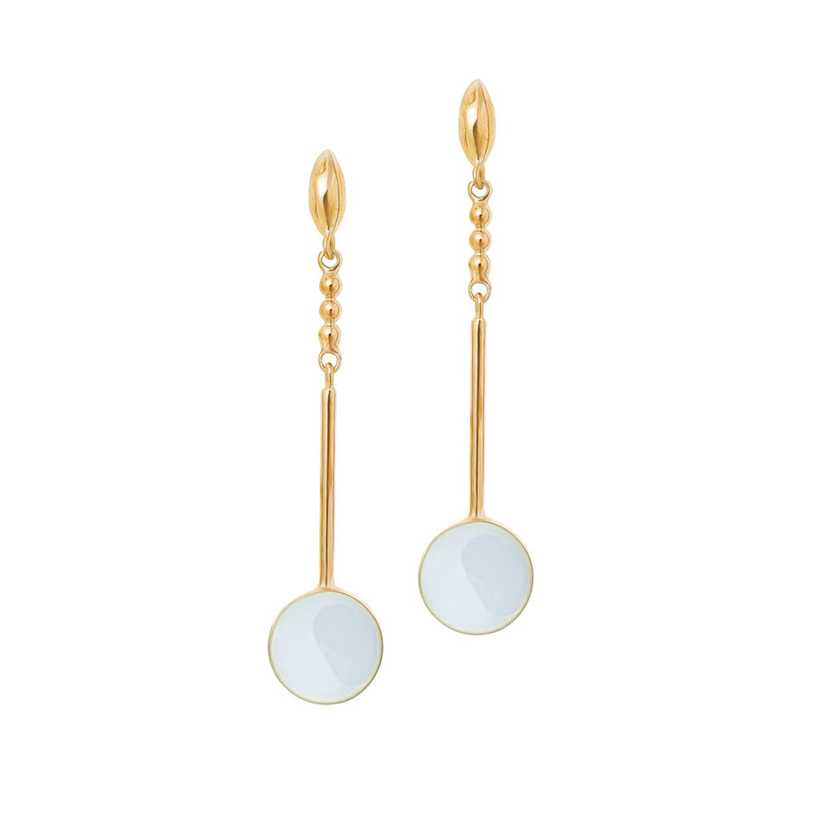 Adriana Earrings - 14K Gold and Arctic Blue