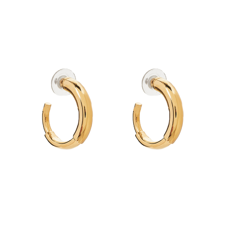 Small Maggie Hoops - 14K Gold