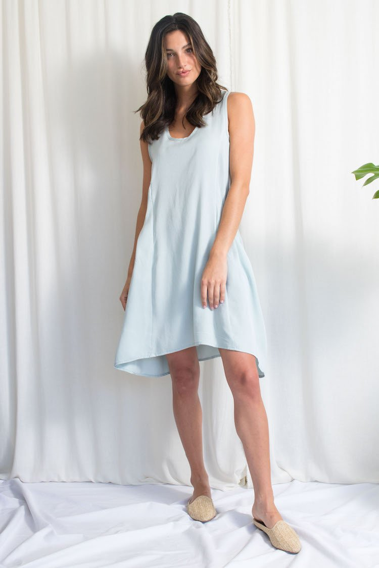 Natalie Busby - Deep Pockets Dress Sky