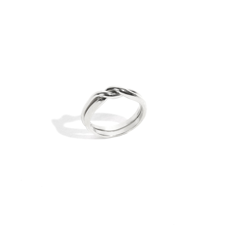 Puzzle Ring - Rhodium