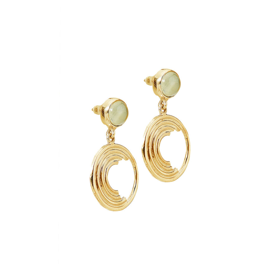 Maya Drop Earrings - 14K Gold with Peridot