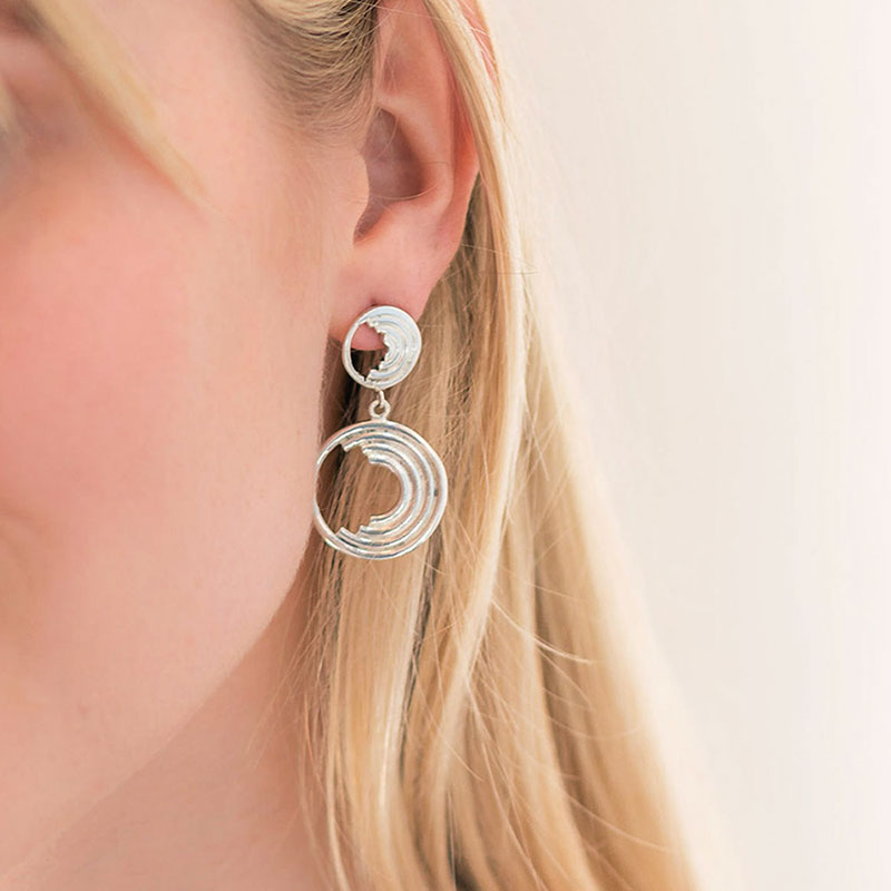 Charlotte Drop Earrings - Sterling Silver