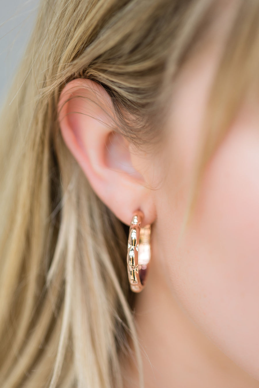 Small Selena Hoops - 14K Rose Gold