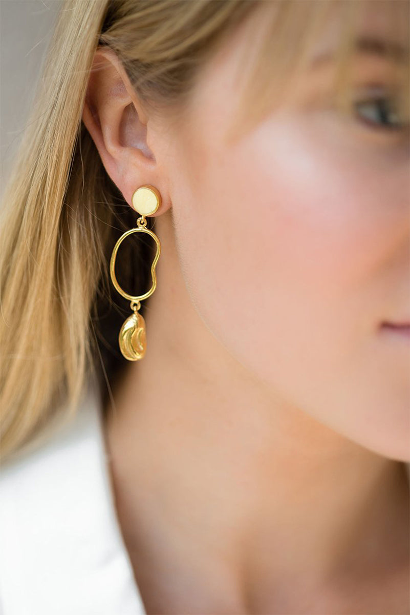 Moani Squiggle Earrings - 14K Gold