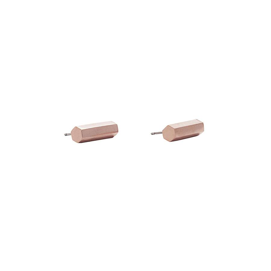 Lisa Bar Studs - 14K Rose Gold