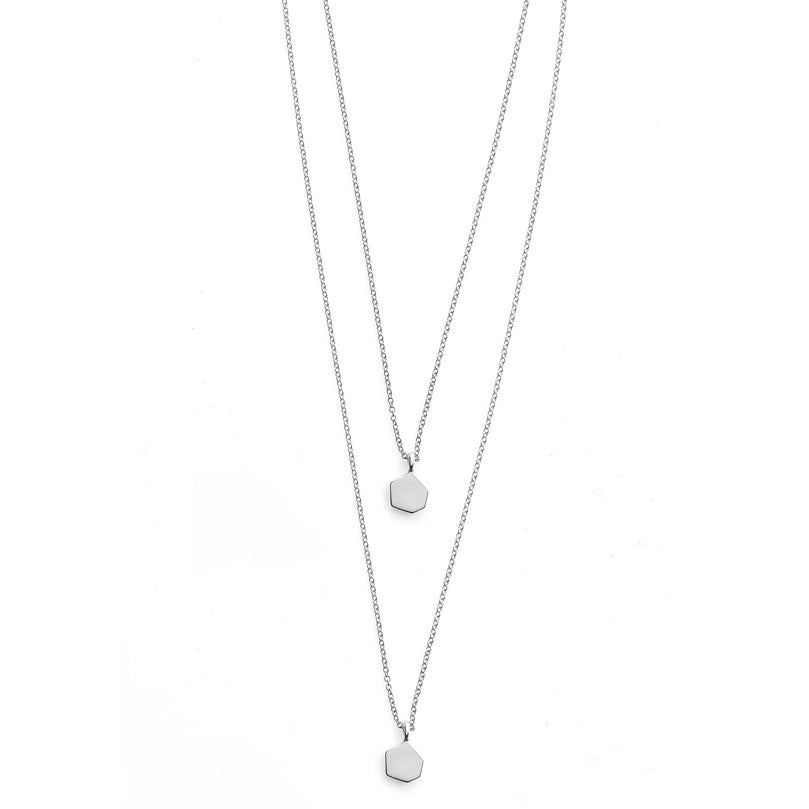 Hexagon Necklace- Sterling Silver