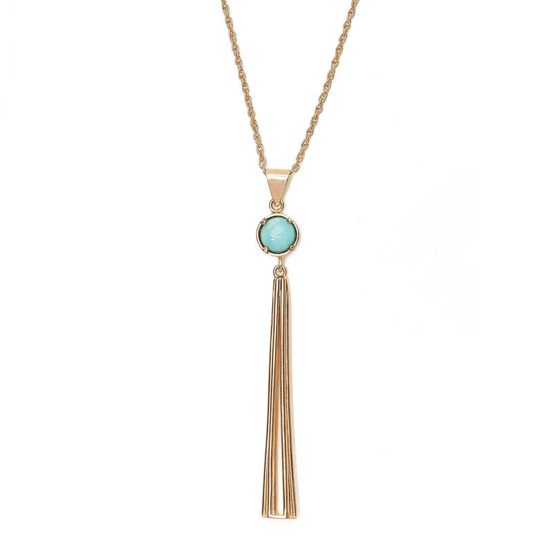 Gabby Necklace - 14K Gold and Larimar