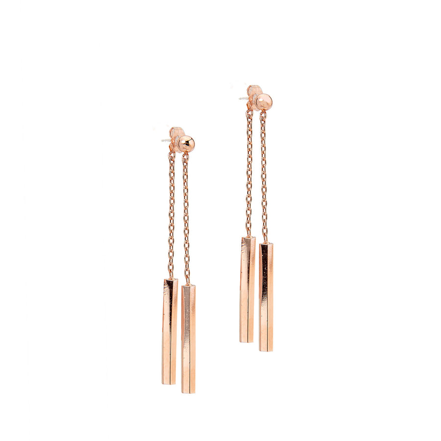 Nia Earrings - 14K Rose Gold (Convertible)